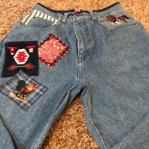 Southwest/country style 80's mom jeans
